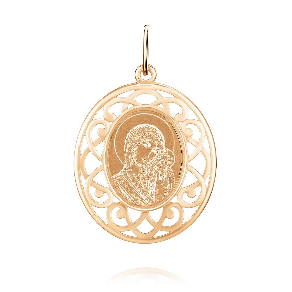Икона из красного золота 585 пробы с бирюзой
