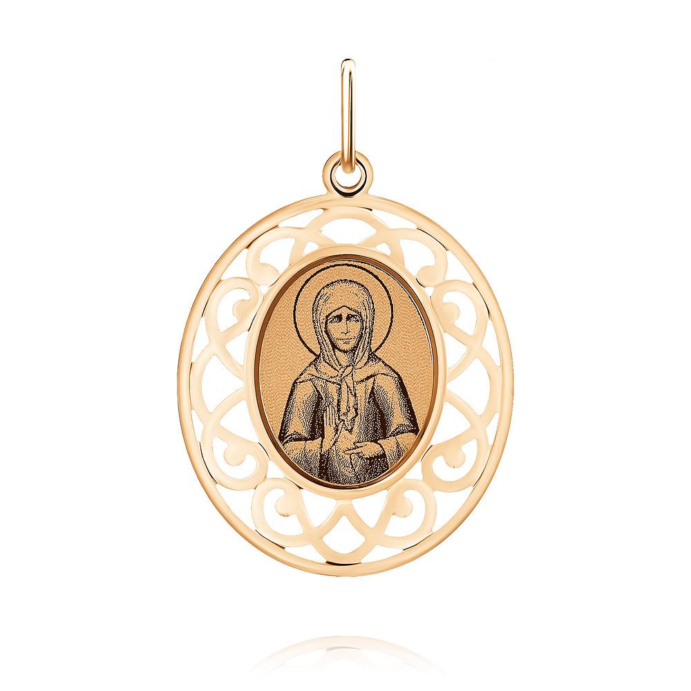 Купить со скидкой Икона из красного золота 585 пробы с бирюзой