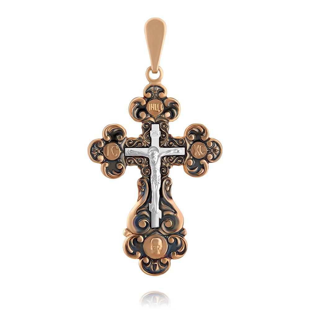Купить Крест из красного золота 585 пробы, Другие, Красный, 3350443/01-А50Д-01