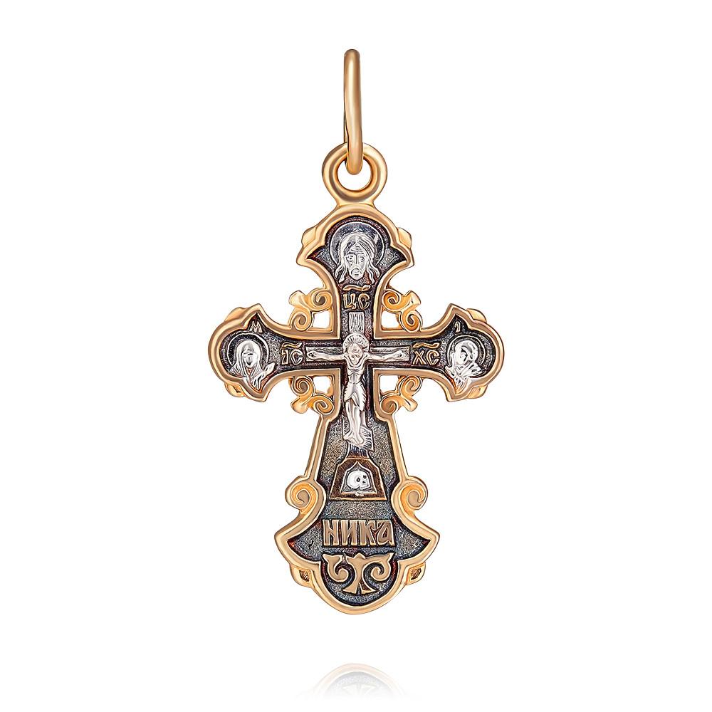 Купить Крест из красного золота 585 пробы, Другие, Красный, 3350748/01-А50Д-01