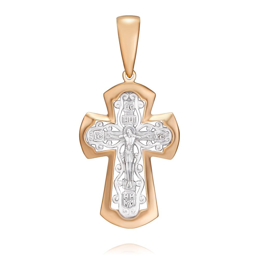 Купить Крест из красного золота 585 пробы, SOKOLOV, Красный, 3350934/01-А501Д-01
