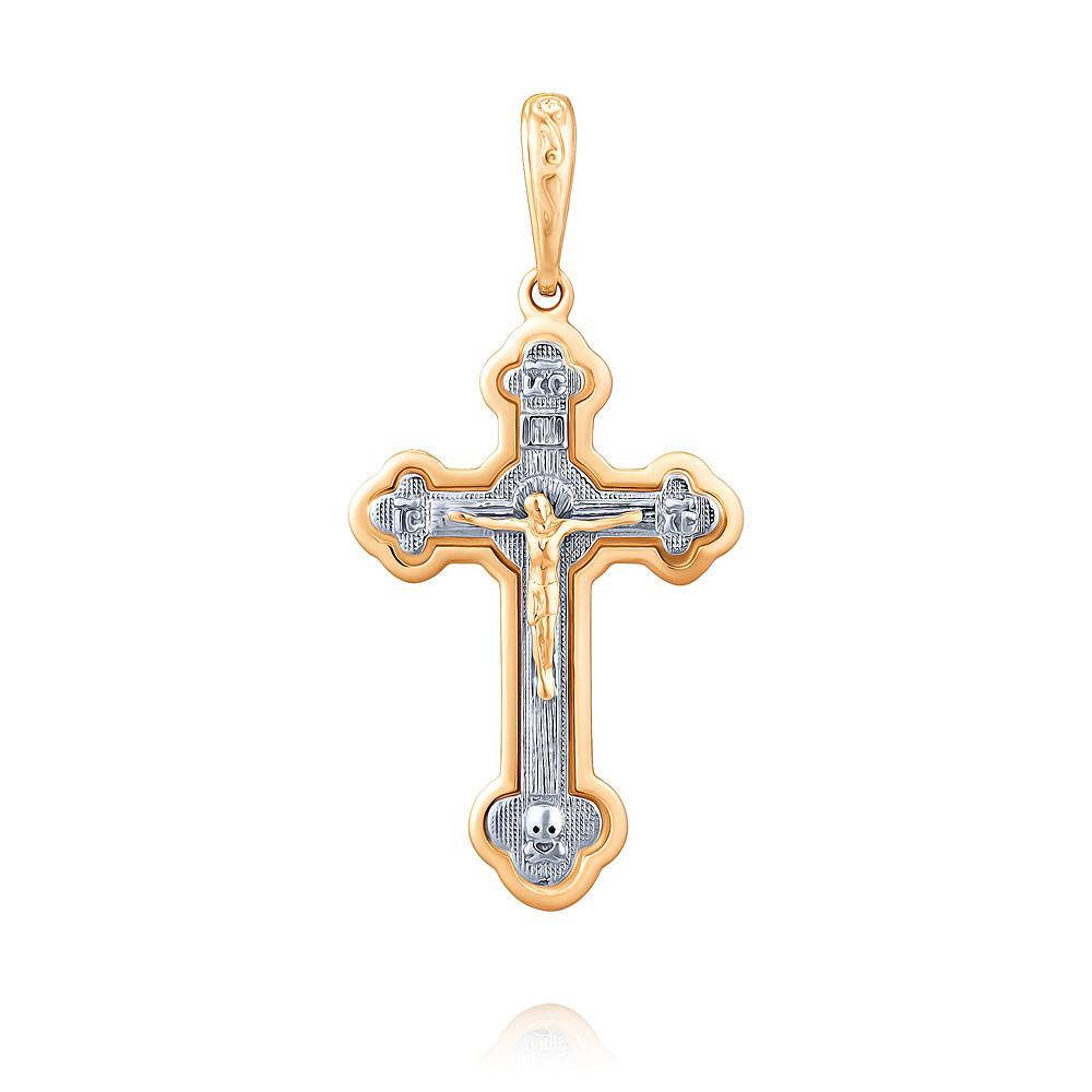 Купить Крест из красного золота 585 пробы, Другие, Красный, 3354210/01-А501Д-01