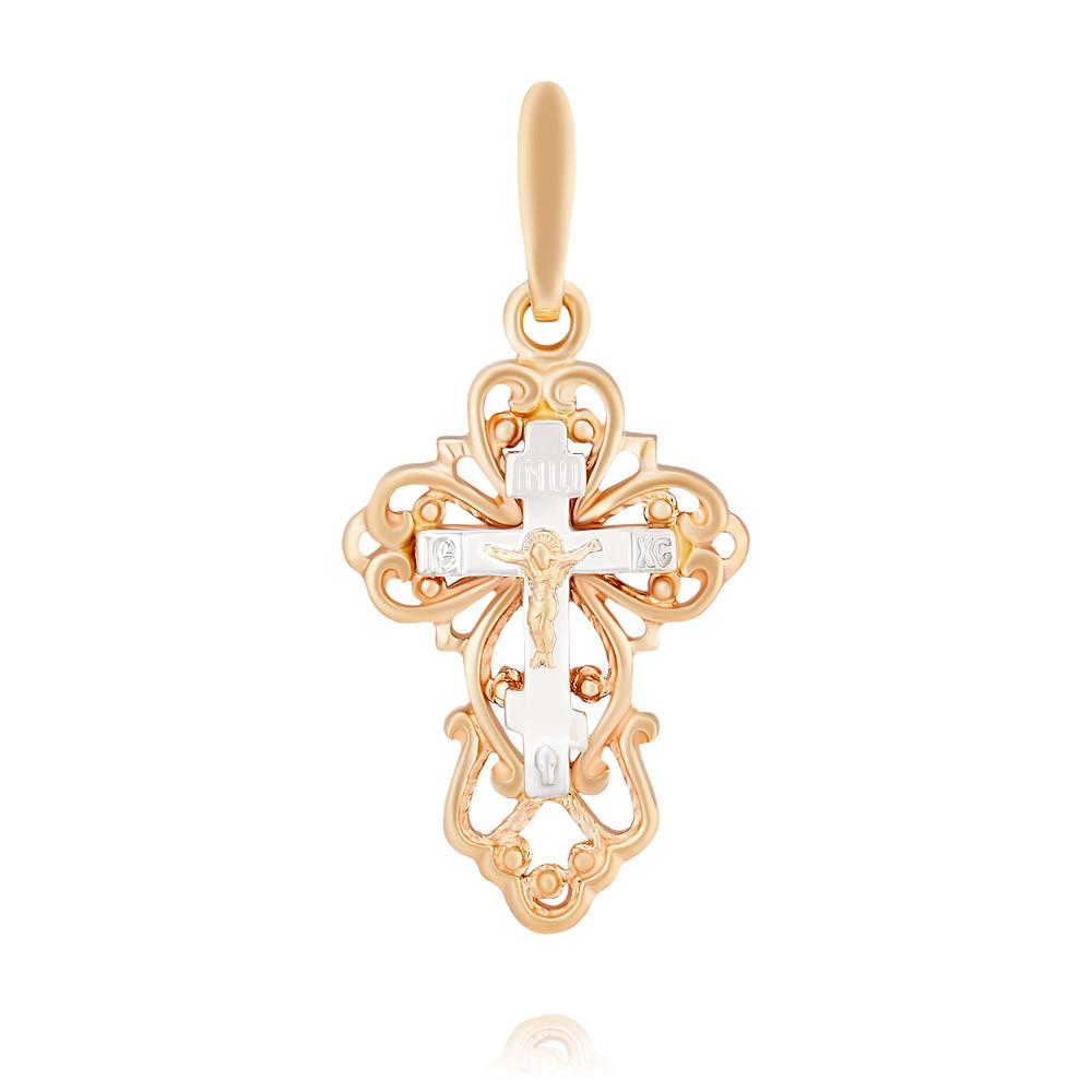 Купить Крест из красного золота 585 пробы, Другие, Красный, 3354288/01-А50Д-01