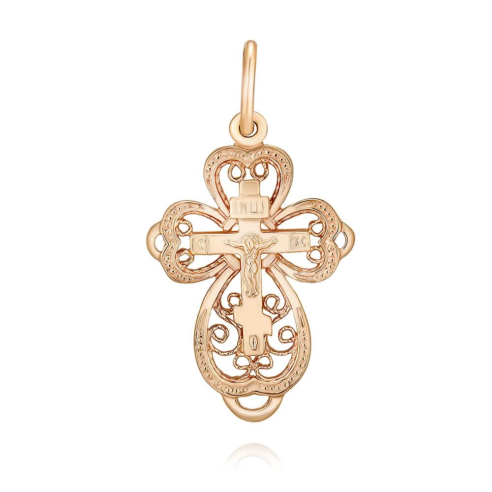 Купить Крест из красного золота 585 пробы, Другие, Красный, 3354441/01-А50Д-01