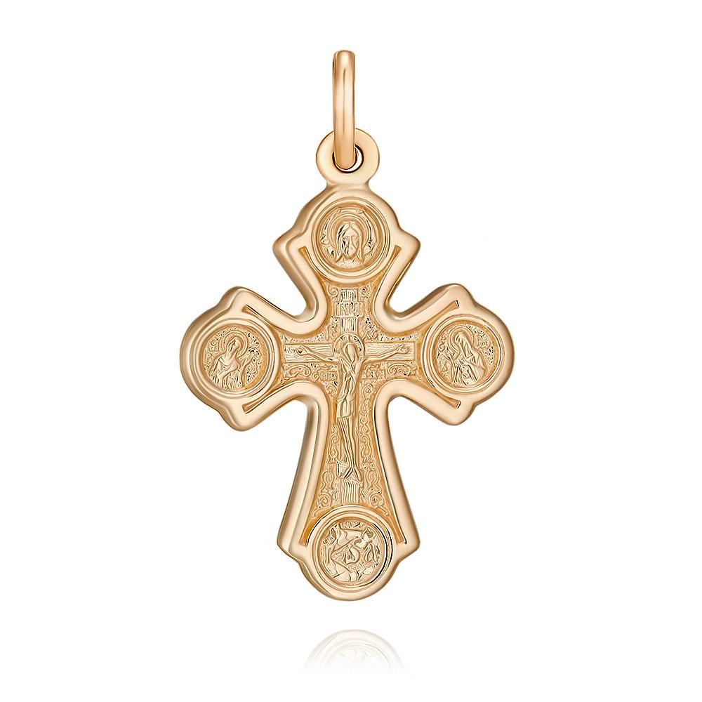 Купить Крест из красного золота 585 пробы, Другие, Красный, 3354443/01-А50-01