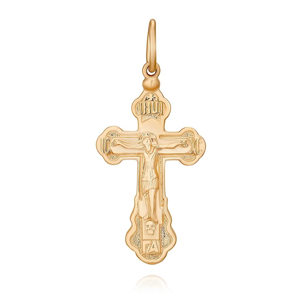 Крест из красного золота 585 пробыПодвески<br><br><br>Вставка: Без вставок<br>Вес: 2.51 г<br>Артикул: 3354729/01-А50Д-01<br>Цвет: Красный<br>Металл: Золото<br>Проба: 585<br>Пол: None