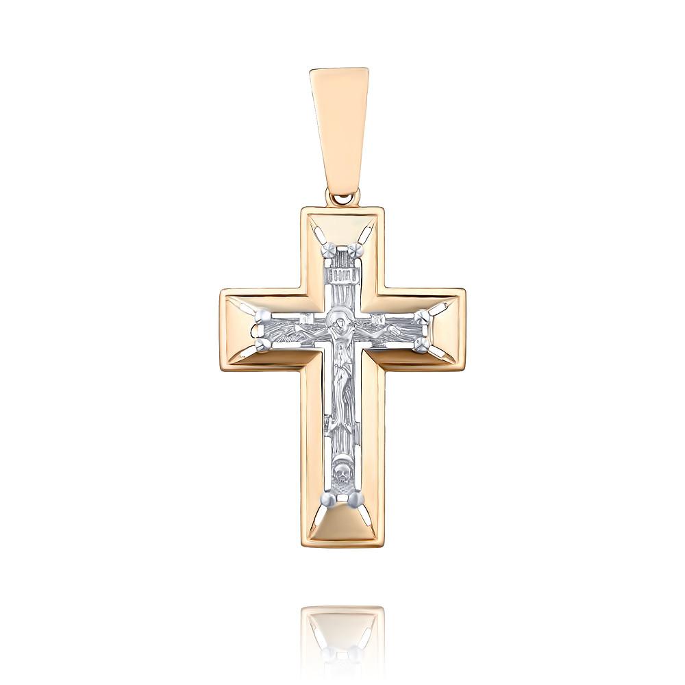 Купить Крест из красного золота 585 пробы, Другие, Красный, 3356660/01-А50Д-01