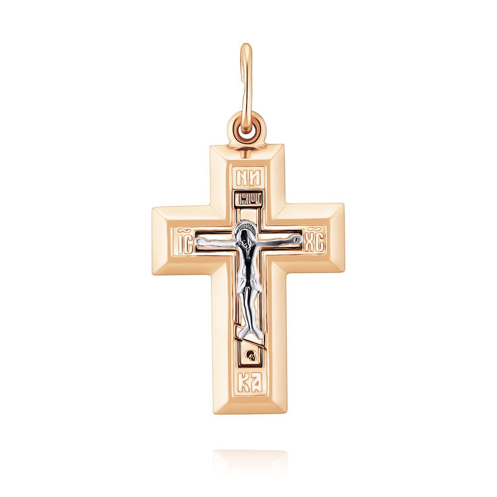 Купить Крест из красного золота 585 пробы, Другие, Красный, 3356914/01-А501Д-01