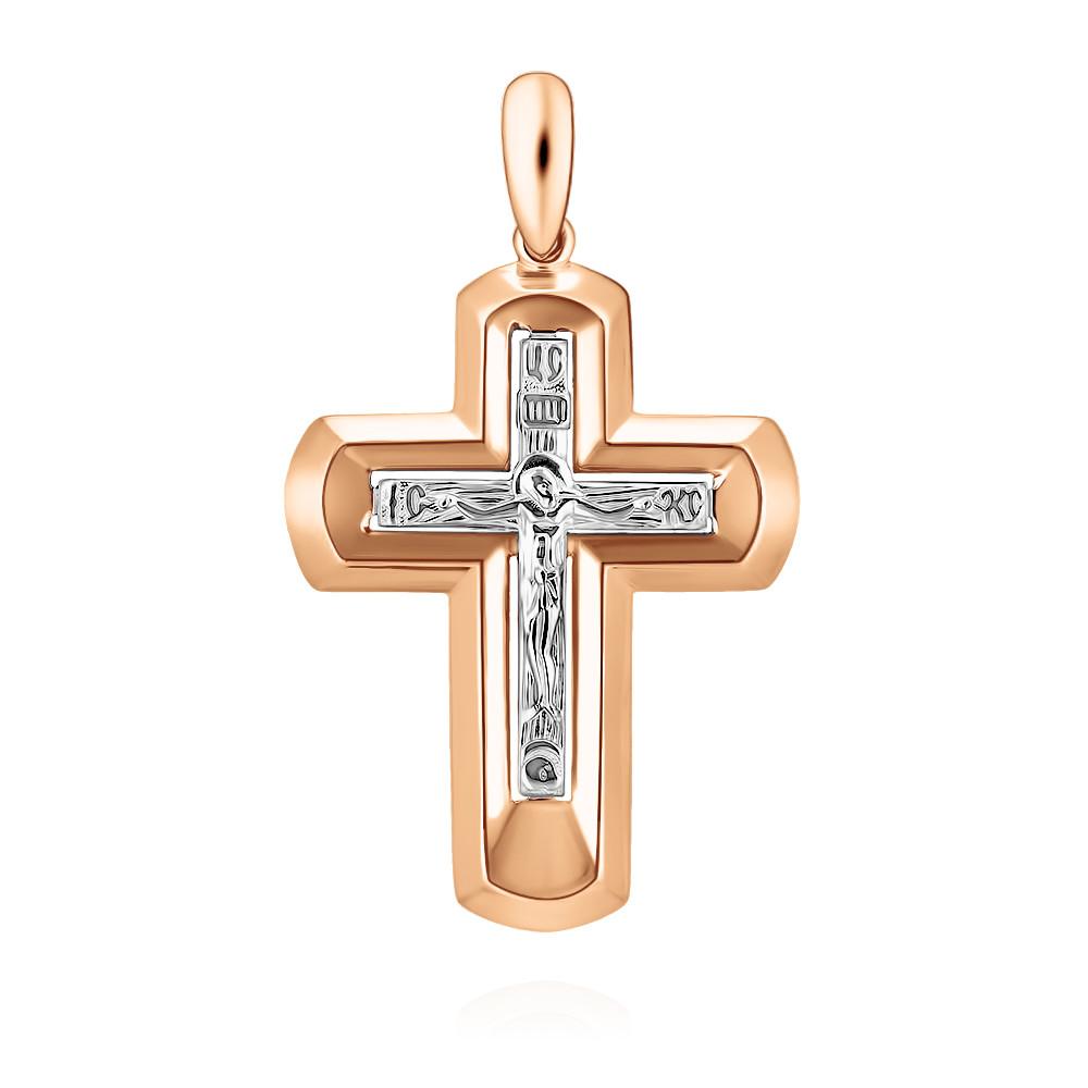 Купить Крест из красного золота 585 пробы, Другие, Красный, 3357396/01-А50Д-01