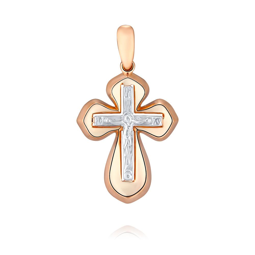 Купить Крест из красного золота 585 пробы, Другие, Красный, 3357398/01-А50Д-01