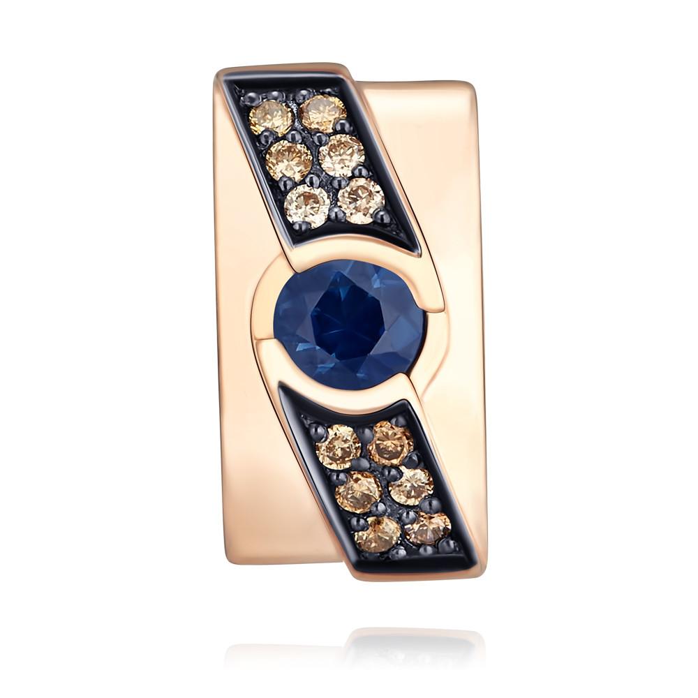 Купить со скидкой Подвеска из красного золота 585 пробы с сапфиром и бриллиантом