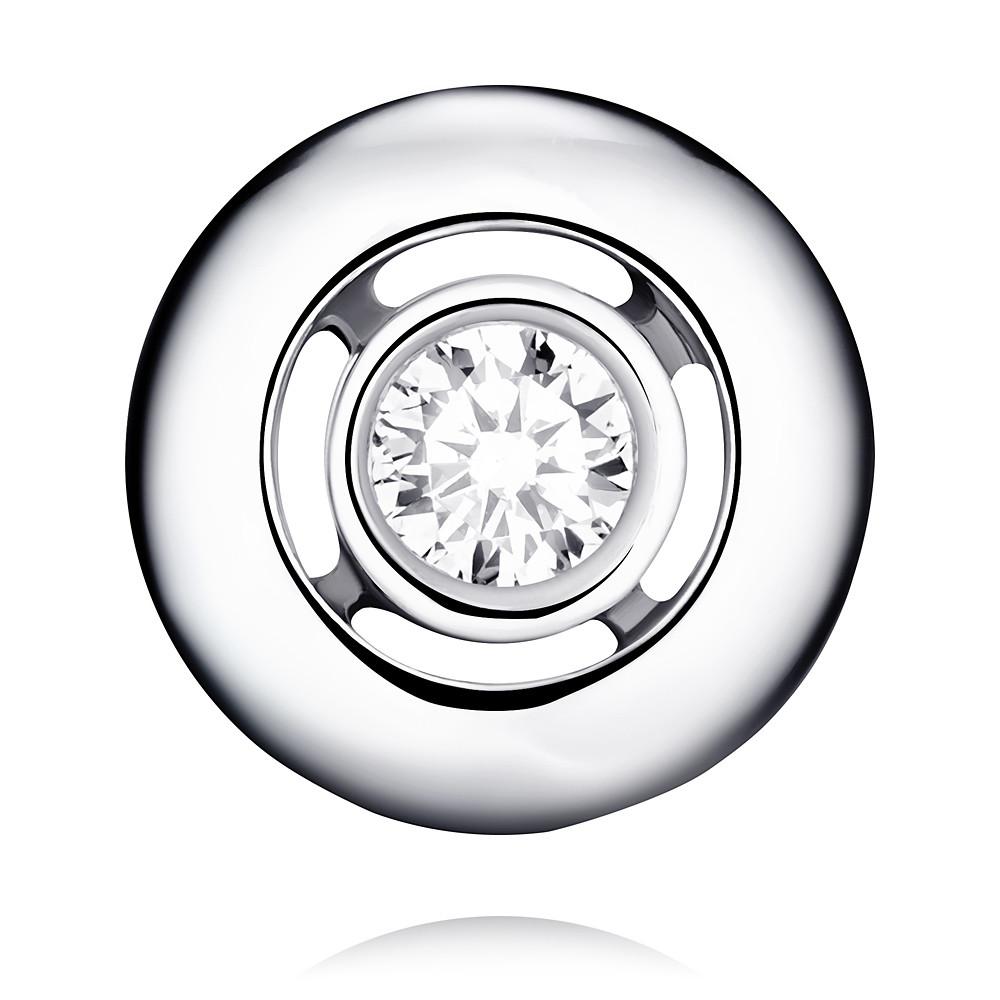 Купить Подвеска из белого золота 585 пробы с бриллиантом, АДАМАС, Белый, Для женщин, 3410941-А51Д-41