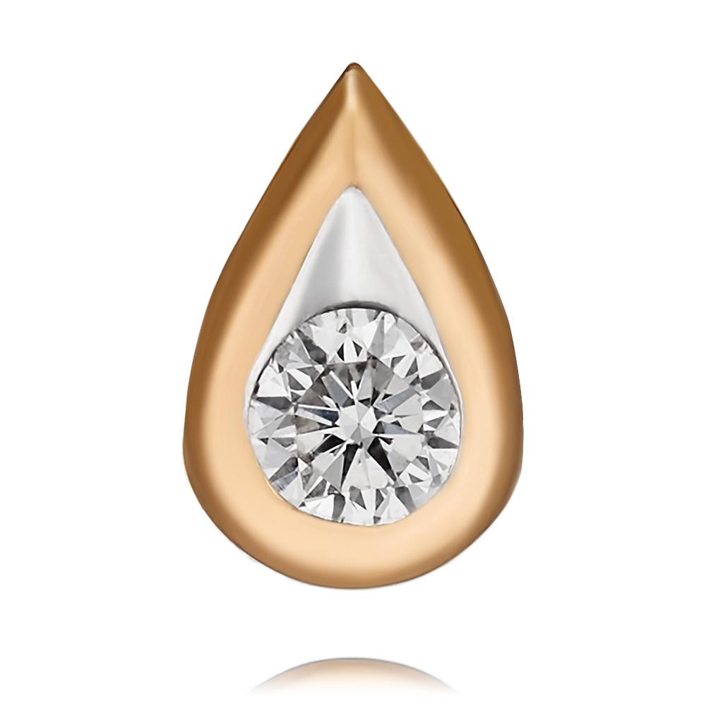 Купить Подвеска из красного золота 585 пробы с бриллиантом, Другие, Красный, Для женщин, 3413363/01-А501-41