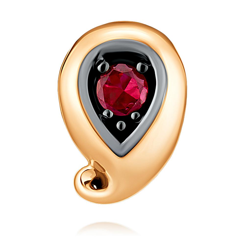 Подвеска из красного золота 585 пробы с рубином, Красный