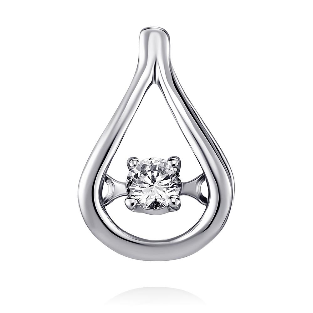 Купить Подвеска из белого золота 585 пробы с бриллиантом, Другие, Белый, Для женщин, 3447536/01-А511Д-41
