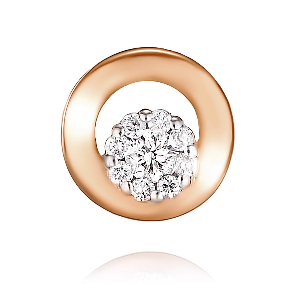 Купить Подвеска из красного золота 585 пробы с бриллиантом, Другие, Красный, Для женщин, 3447764/01-А50Д-41