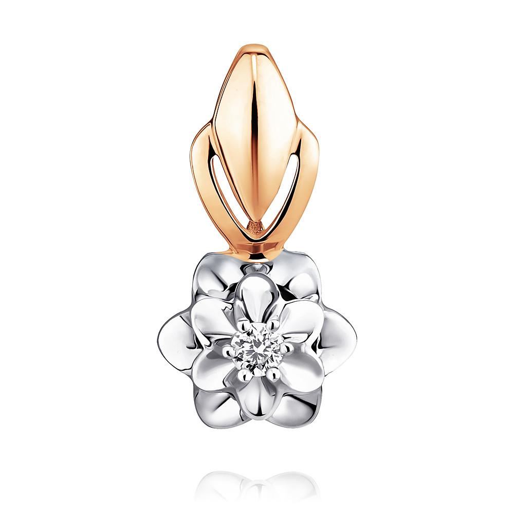 Купить Подвеска из красного золота 585 пробы с бриллиантом, SOKOLOV, Красный, Для женщин, 3448476/01-А50Д-41