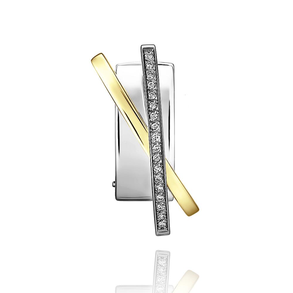 Купить Подвеска из белого золота 585 пробы с бриллиантом, Другие, Белый, Для женщин, 3452945/01-А511Д-41