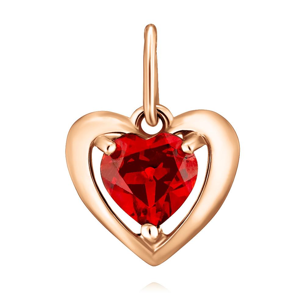 Купить Подвеска из красного золота 585 пробы с гранатом, SOKOLOV, Красный, Для женщин, 3453344/01-А50-655
