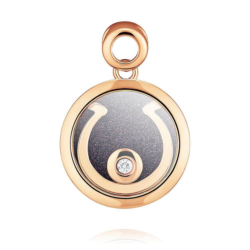 Купить Подвеска из красного золота 585 пробы с бриллиантом, SOKOLOV, Красный, Для женщин, 3453951/02-А50-41