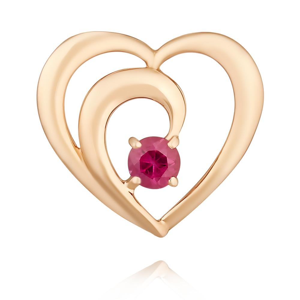 Купить Подвеска из красного золота 585 пробы с рубином, SOKOLOV, Красный, Для женщин, 3454604/01-А50-541