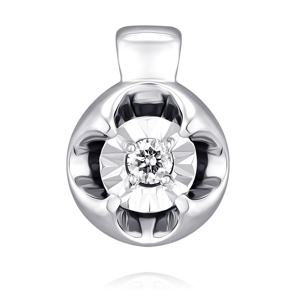 Купить Подвеска из белого золота 585 пробы с бриллиантом, Другие, Белый, Для женщин, 3454663/01-А512Д-41