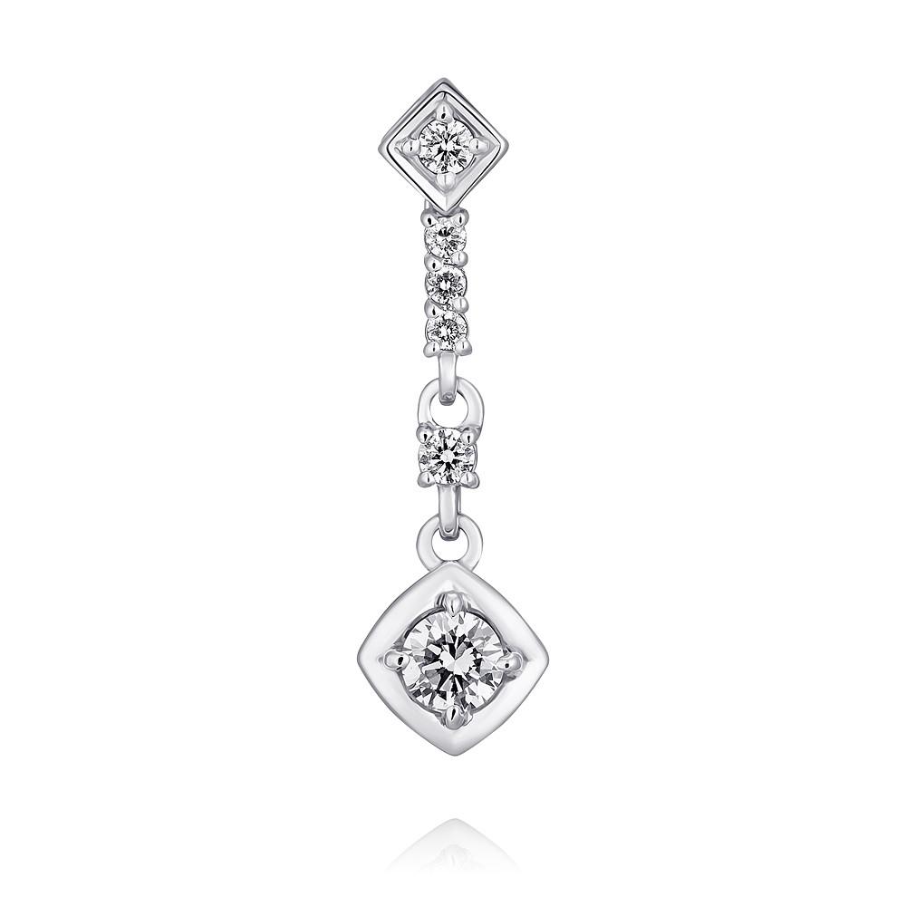 Купить Подвеска из белого золота 585 пробы с бриллиантом, Другие, Белый, Для женщин, 3456480/01-А511Д-41