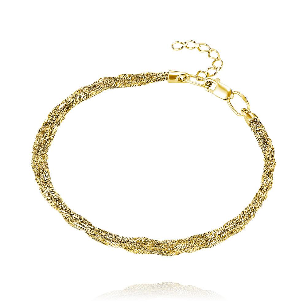 Купить Браслет из желтого золота 585 пробы, АДАМАС, Желтый, 7104831-А55-01