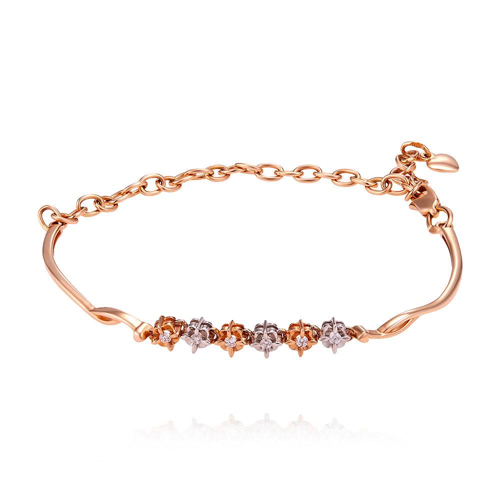 Купить Браслет из красного золота 585 пробы с бриллиантом, SOKOLOV, Красный, Для женщин, 7405473/01-А501-41