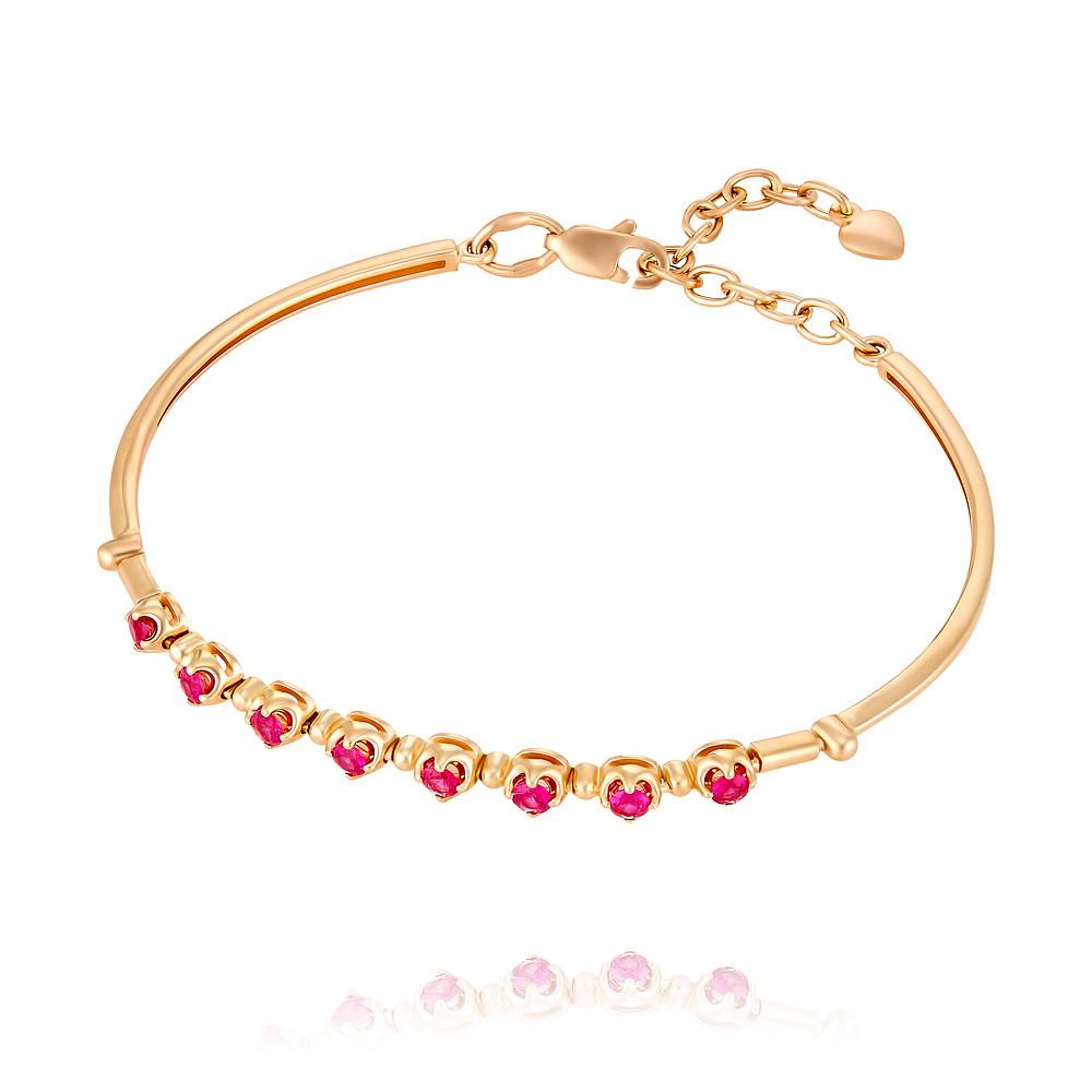 Купить Браслет из красного золота 585 пробы с рубином, SOKOLOV, Красный, Для женщин, 7407596/01-А50-541