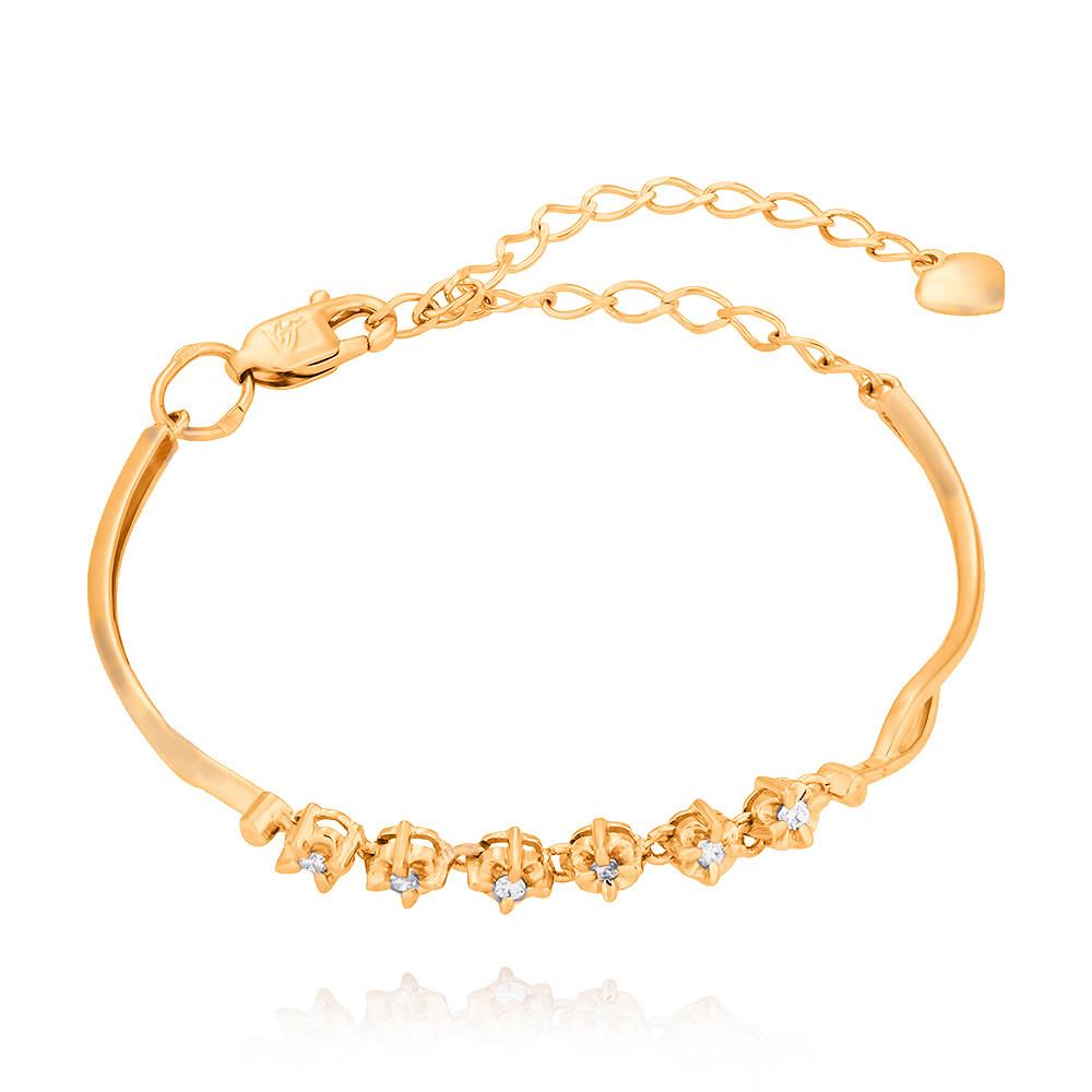 Купить Браслет из красного золота 585 пробы с бриллиантом, АДАМАС, Красный, 7416708-А500-41
