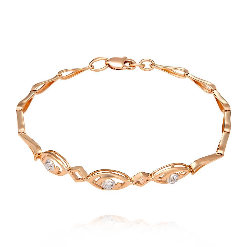 Купить Браслет из красного золота 585 пробы с бриллиантом, SOKOLOV, Красный, Для женщин, 7448247/01-А50Д-41