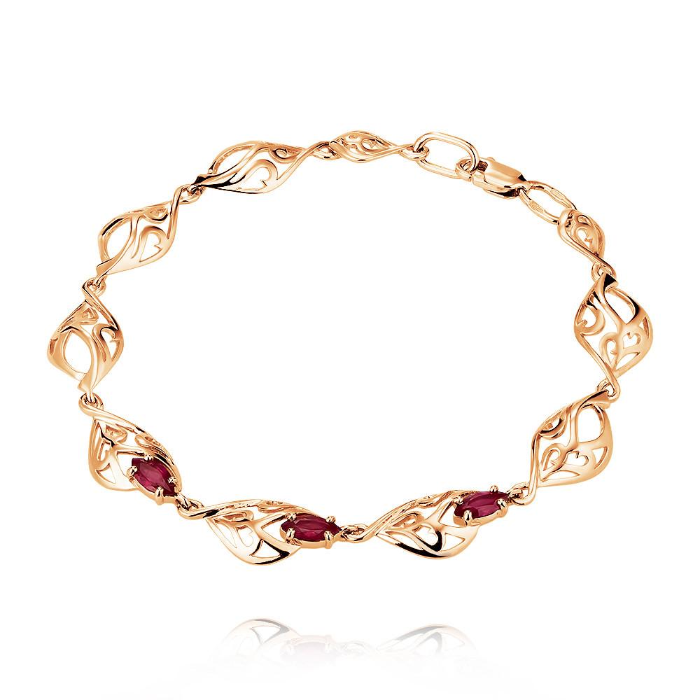 Купить со скидкой Браслет из красного золота 585 пробы с рубином