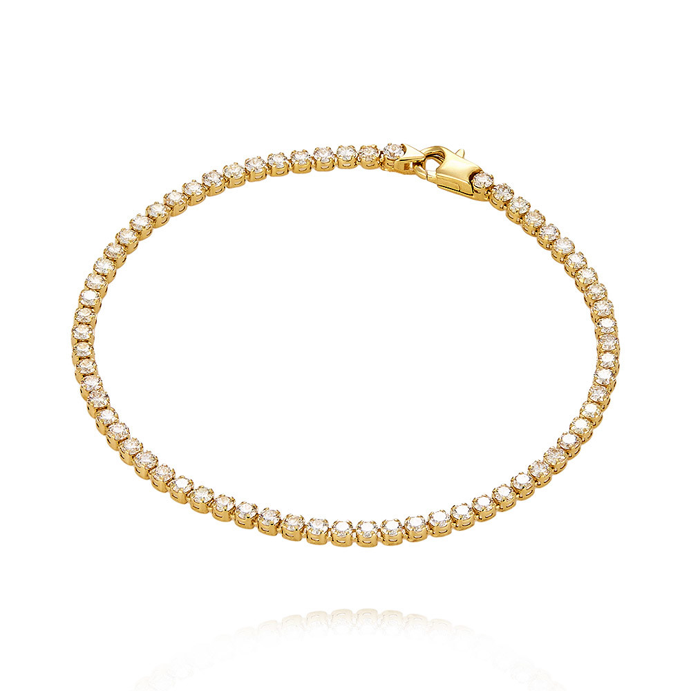 Купить Браслет из желтого золота 585 пробы с бриллиантом, Другие, Желтый, Для женщин, 7456436/01-А55Д-41
