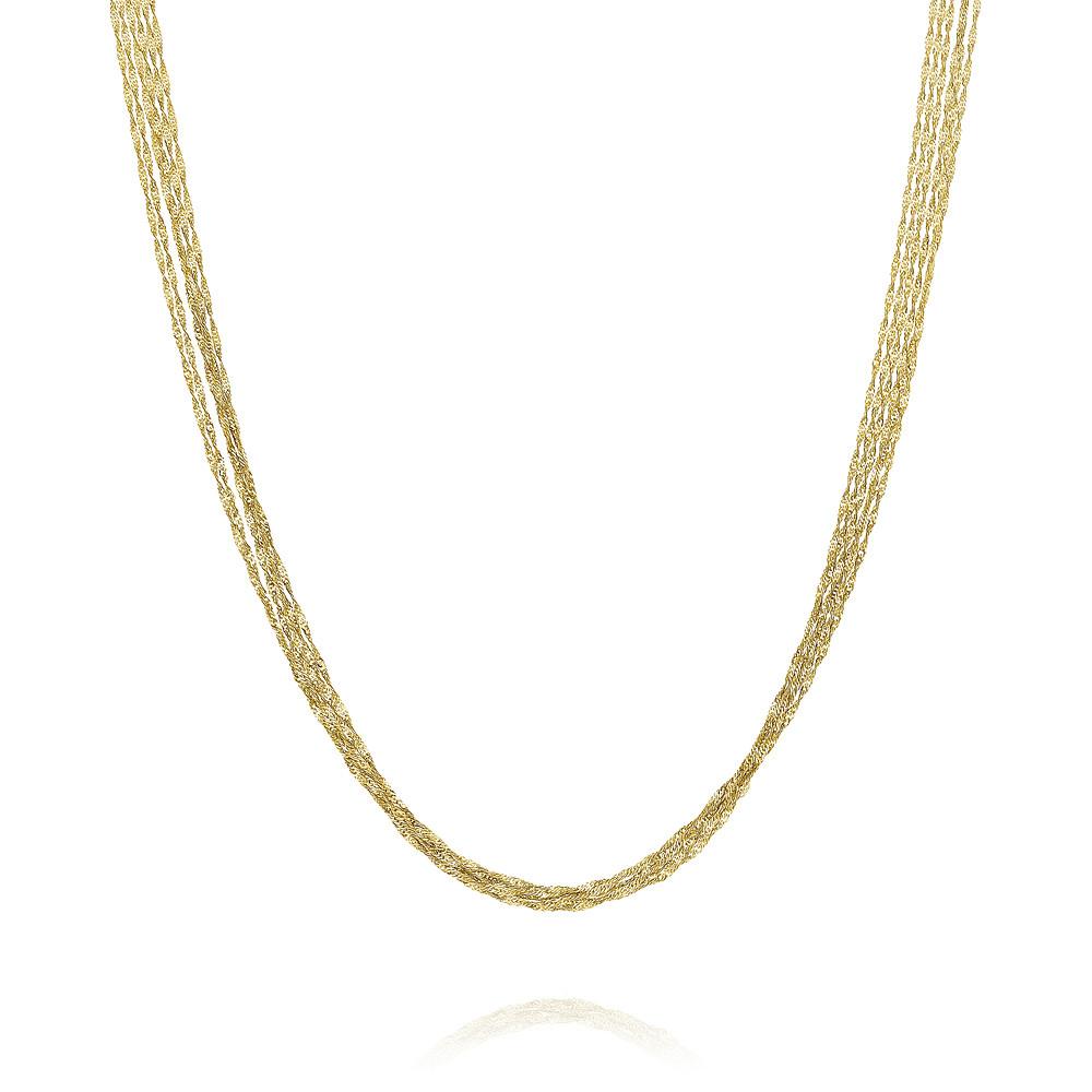 Купить со скидкой Шейное украшение из желтого золота 585 пробы