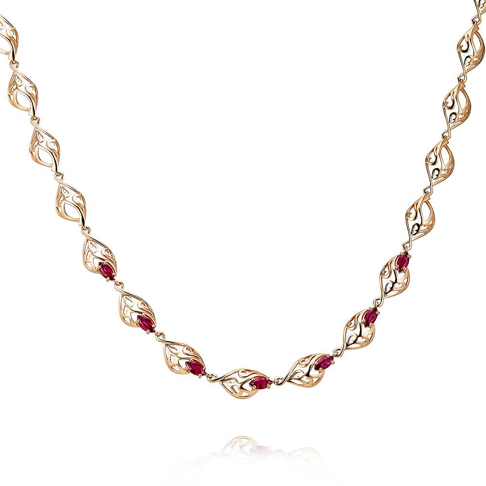 Купить со скидкой Шейное украшение из красного золота 585 пробы с рубином