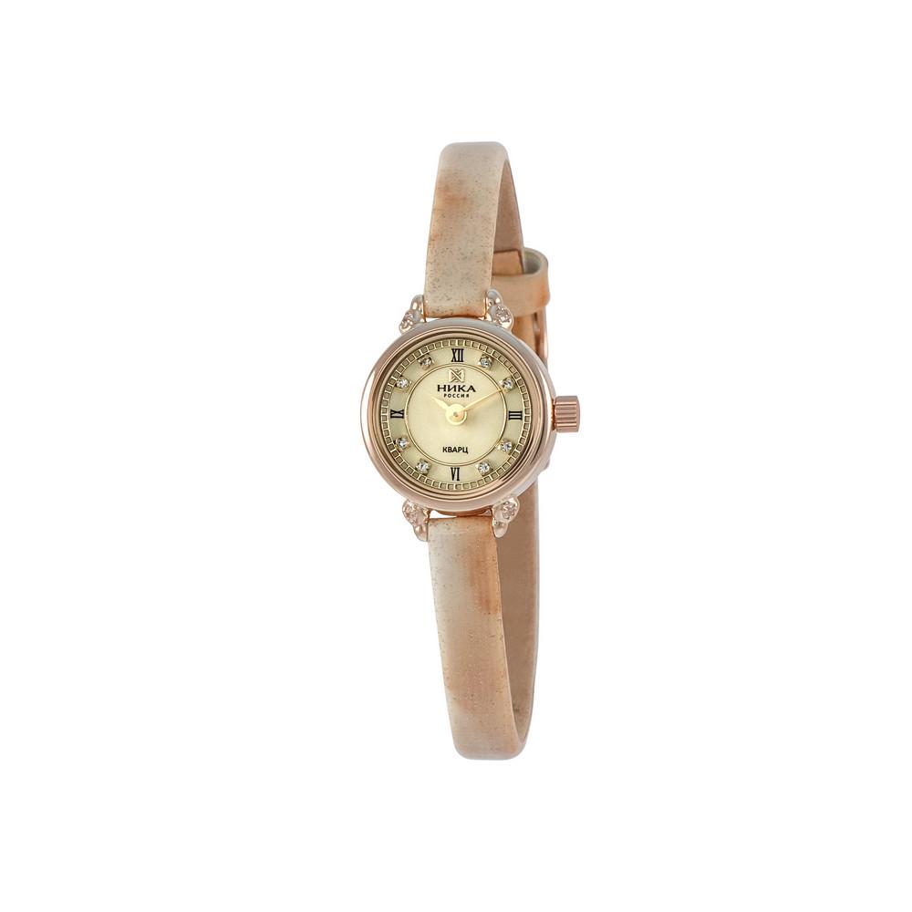 Купить Часы из красного золота 585 пробы с фианитом, НИКА, Красный, Для женщин, Ф110490/15-А50-72