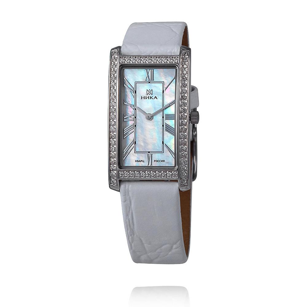 Купить Часы из белого серебра 925 пробы с фианитом, НИКА, Для женщин, Ф110504/12-С8Д-72