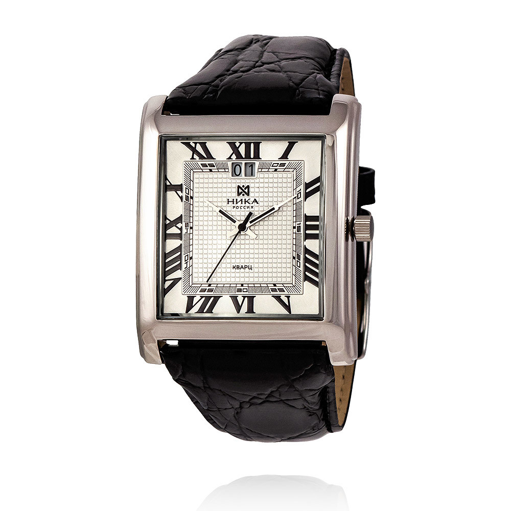 Купить Часы из белого серебра 925 пробы, НИКА, Для мужчин, Ф110507/06-С8Д-01