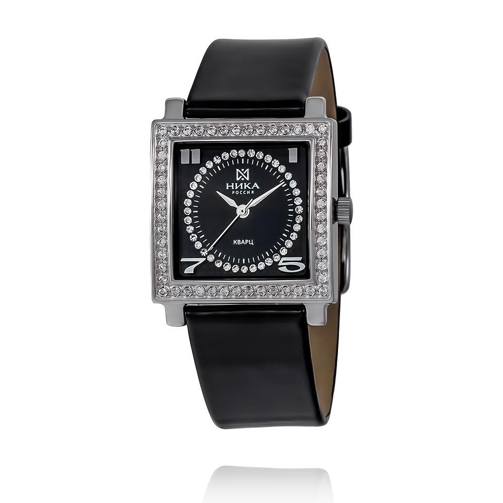 Купить со скидкой Часы из белого серебра 925 пробы с фианитом