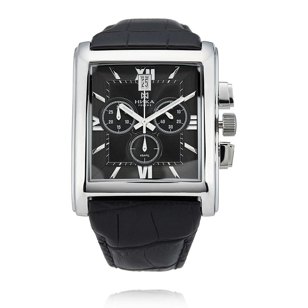 Купить Часы из белого серебра 925 пробы, НИКА, Для мужчин, Ф127927/02-С8Д-01