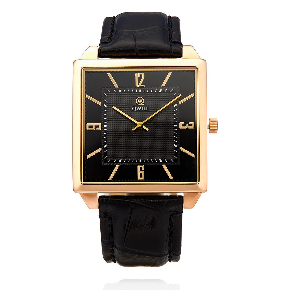 Часы из красного золота 585 пробыЧасы<br>QWILL - российский бренд ювелирных часов, ориентированный на широкую аудиторию современных, стильных и активных людей, следящих за модой и стремящихся подчеркнуть собственную индивидуальность.<br><br>Вставка: Без вставок<br>Вес: 3.46 г<br>Артикул: Ф150469/01-А50-01<br>Цвет: Красный<br>Металл: Золото<br>Проба: 585<br>Пол: Для мужчин