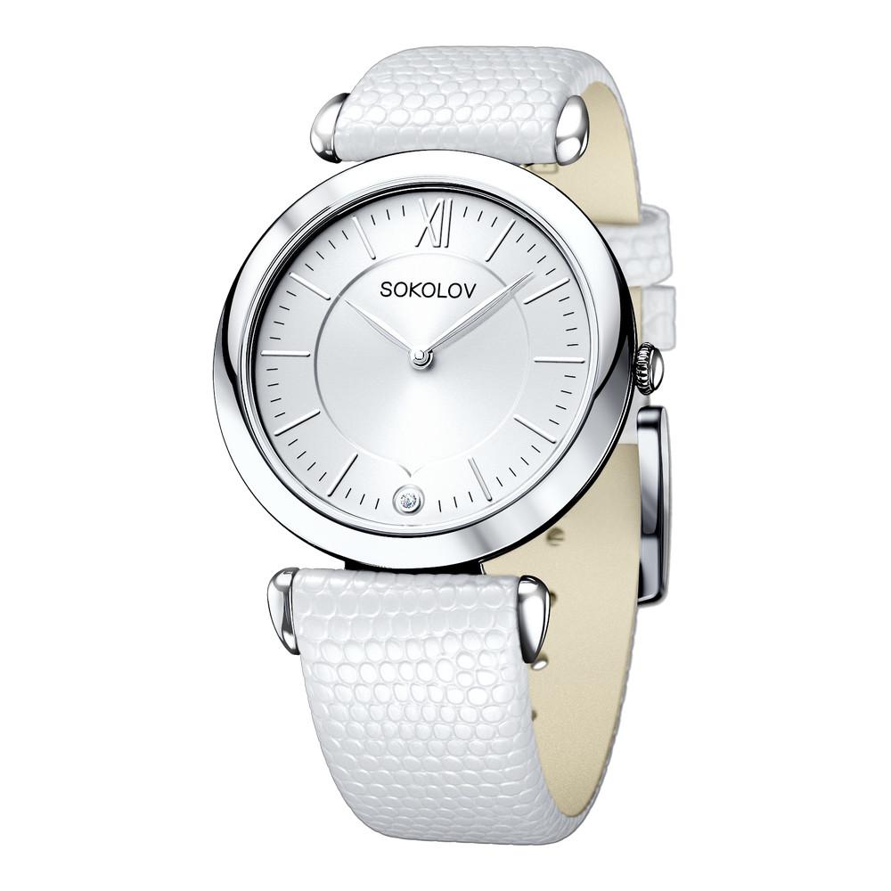 Купить Часы из белого серебра 925 пробы, SOKOLOV, Для женщин, Ф151118/01-С8Д-01