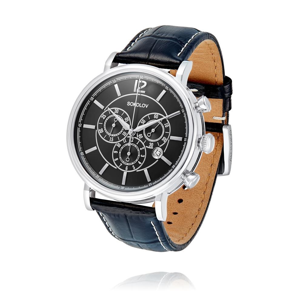 Купить Часы из белого серебра 925 пробы, SOKOLOV, Для мужчин, Ф153770/02-С8Д-01